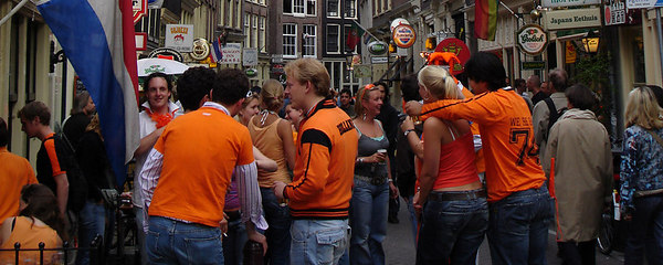 Hanging out for the World Cup game - Amsterdam, Netherlands ... June 16, 2006 ... Photo by Emily Conger