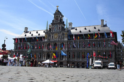 The Stadhuis (City Hall)  - Antwerpen, Belgium ... June 18, 2006 ... Photo by Rob Page III