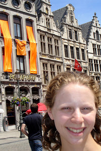 Emily on the European Streets - Antwerpen, Belgium ... June 18, 2006 ... Photo by Rob Page III