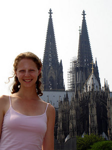 Emily and the Cologne Cathedral - Cologne, Germany ... June 14, 2006 ... Photo by Rob Page III