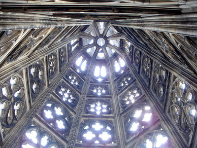 Looking up to the top of one of the spires on the Cologne Cathedral - Cologne, Germany ... June 14, 2006 ... Photo by Rob Page III