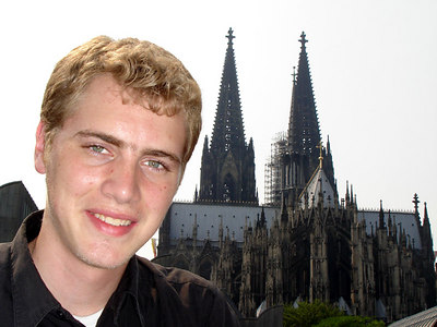 Rob and the Cologne Cathedral - Cologne, Germany ... June 14, 2006 ... Photo by Emily Conger