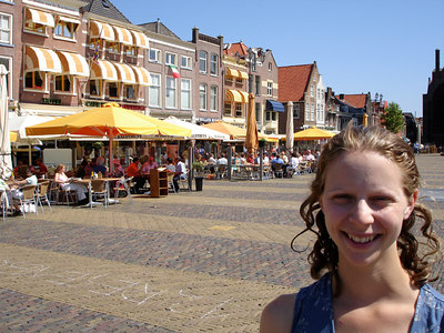 Emily on the markt - Delft, Netherlands ... June 17, 2006 ... Photo by Rob Page III