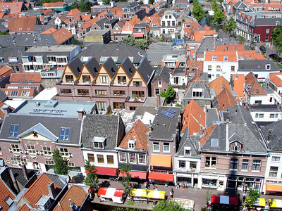 The old town of Delft.  The streets are laced with canals and it is known for its pottery - Delft, Netherlands ... June 17, 2006 ... Photo by Rob Page III