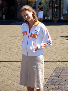 Emily, looking at me like I am idiot for taking her photo - Delft, Netherlands ... June 17, 2006 ... Photo by Rob Page III