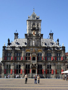The Stadhuis, opposite the Nieuwe Kerk.  I couldn't find much information about it - Delft, Netherlands ... June 17, 2006 ... Photo by Rob Page III