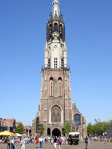 The Nieuwe Kerk towers above the market square - Delft, Netherlands ... June 17, 2006 ... Photo by Rob Page III