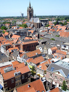 The Oude Kerk of Delft rises above the rest of the town - Delft, Netherlands ... June 17, 2006 ... Photo by Rob Page III