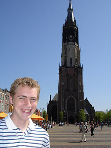 Rob and the Nieuwe Kerk - Delft, Netherlands ... June 17, 2006 ... Photo by Emily Conger