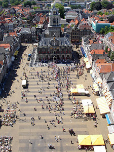 People gathering in the main square - Delft, Netherlands ... June 17, 2006 ... Photo by Rob Page III