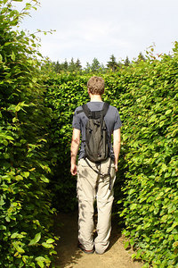 Rob got lost the Drielandenpunt Labyrinth - Vaals, Netherlands ... June 19, 2006 ... Photo by Emily Conger