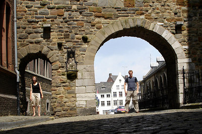 A Rob sized entranceway and an Emily sized entranceway - Maastricht, Netherlands ... June 19, 2006 ... Photo by Rob Page III