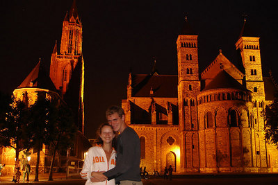 Rob and Emily in front of the St John Church and the Basilica of Saint Servatius - Maastricht, Netherlands ... June 19, 2006 ... Photo by Rob Page III