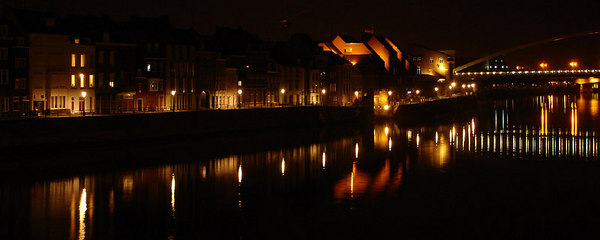 Night time along the Meuse River - Maastricht, Netherlands ... June 19, 2006 ... Photo by Rob Page III