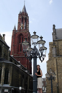 Emily in front of St. John's Church - Maastricht, Netherlands ... June 19, 2006 ... Photo by Rob Page III