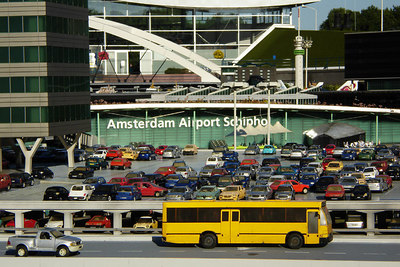 Amsterdam Airport at Madurodam.  This is a city with detailed miniatures of major landmarks in Holland.  It also makes mortals look like GIANTS - Den Haag, Netherlands ... June 17, 2006 ... Photo by Rob Page III