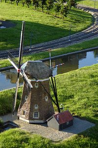 A miniature windmill - Den Haag, Netherlands ... June 17, 2006 ... Photo by Rob Page III