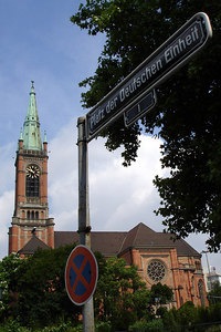 A church - Dusseldorf, Germany ... June 20, 2006 ... Photo by Rob Page III