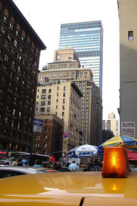 Looking down the streets of the city - New York, NYC ... June 20, 2006 ... Photo by Rob Page III