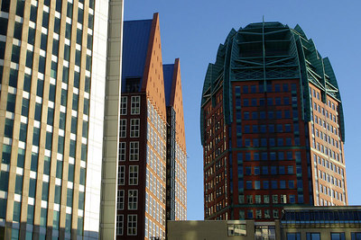 The city's modern skyline - Den Haag, Netherlands ... June 17, 2006 ... Photo by Rob Page III
