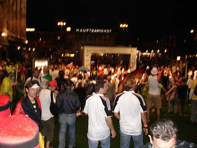 Celebrating after the Germany-Poland World Cup game - Dortmund, Germany ... June 14, 2006 ... Photo by Rob Page III