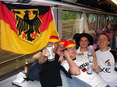 Taking in the Germany-Poland World Cup game. - Dortmund, Germany ... June 14, 2006 ... Photo by Rob Page III