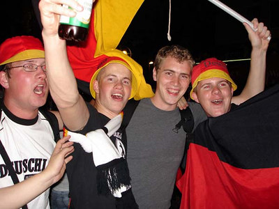 Celebrating after the Germany-Poland World Cup game - Dortmund, Germany ... June 14, 2006 ... Photo by Emily Conger