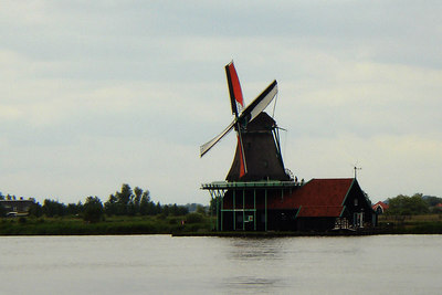 One of the windmills of Zaanse Schans, Netherlands ... June 16, 2006 ... Photo by Rob Page III