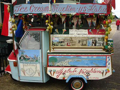 A crazy ice cream truck - Zaanse Schans, Netherlands ... June 16, 2006 ... Photo by Rob Page III