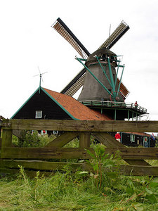 One of the Dutch's famous windmills - Zaanse Schans, Netherlands ... June 16, 2006 ... Photo by Rob Page III