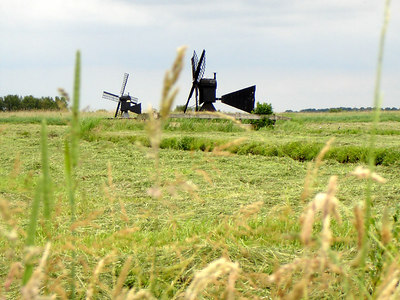 Windmills are everywhere - Zaanse Schans, Netherlands ... June 16, 2006 ... Photo by Rob Page III