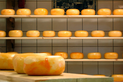 Holland is known for its cheese and here is some fresh cheese - Zaanse Schans, Netherlands ... June 16, 2006 ... Photo by Rob Page III