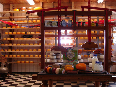 Holland is known for its cheese and they make it right here - Zaanse Schans, Netherlands ... June 16, 2006 ... Photo by Rob Page III