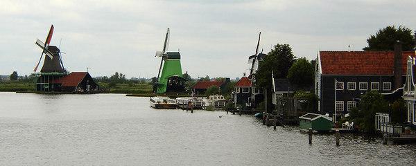Windmills - Zaanse Schans, Netherlands ... June 16, 2006 ... Photo by Rob Page III