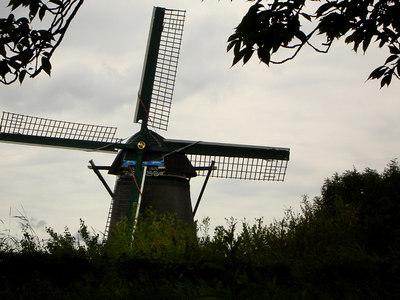 A windmill - Zaanse Schans, Netherlands ... June 16, 2006 ... Photo by Rob Page III