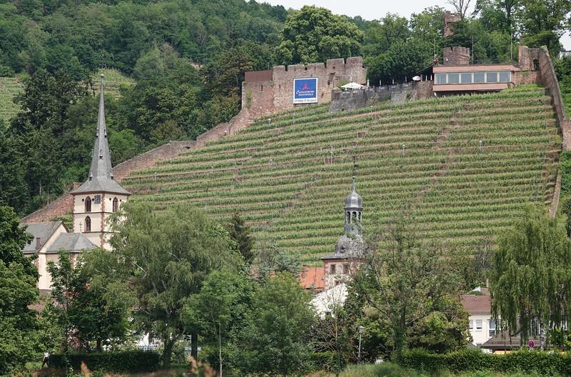 Klingenberg with Clingenburg castle ruins, Mainfranken, Lower Franconia, Franconia, Bavaria, Germany