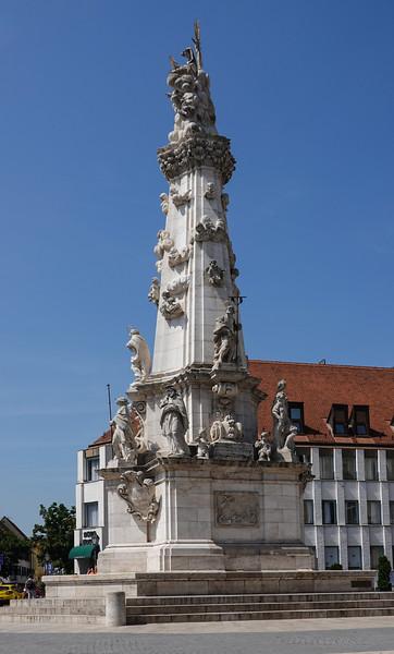 The Trinity Statue of Budapest, Hungary, by the Matthias Church near Buda Castle, Pest, Budapest, Hungary.