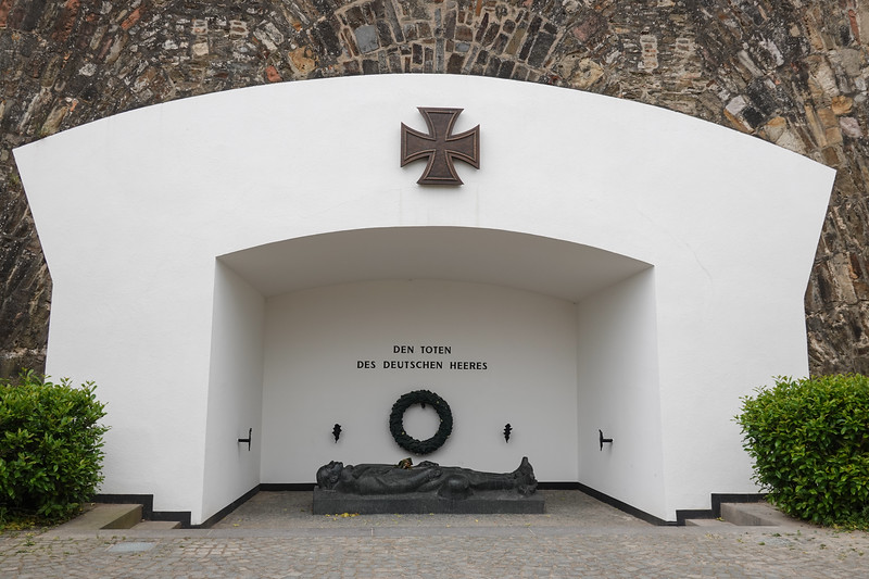A memorial to the dead of the German Army inside Ehrenbreitstein Fortress, Koblenz, Germany.
