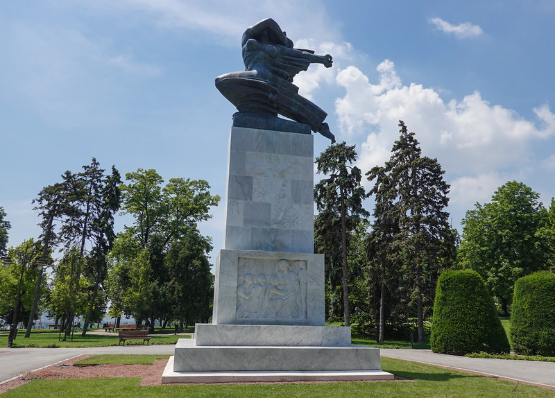 Monument of Gratitude to France from November 11, 1930, outside the Belgrade Fortress, Serbia.