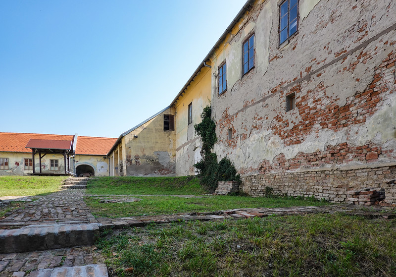 Inside Tvrđa fortress, Osijek, Croatia.  A military complex for nearly 200 years with many walls taken down 100 years ago.