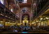 Inside the Dohany Street Synagogue in Jewish Budapest.