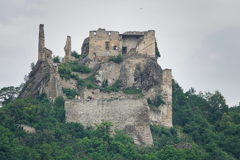 Another view of the Durnstein Castle ruins in the Wachau Valley, Austria.