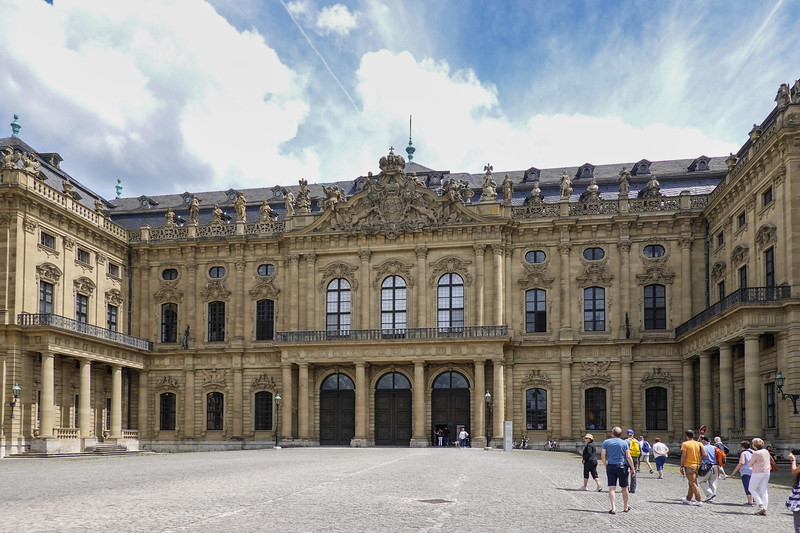 The Würzburg Residence is a palace in Würzburg, Germany. It is   representative of the Austrian/South German Baroque style.