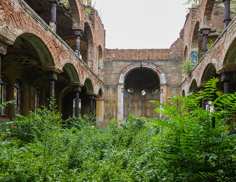 Inside the deserted Synogogue in Vidin, Bulgaria.