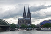 The Cologne Cathedral from the Viking Embla docked in Cologne.