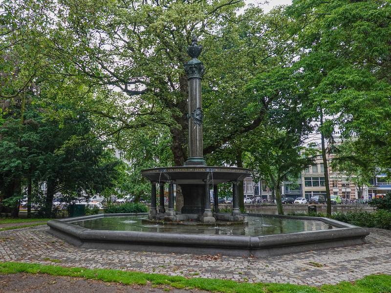Statue in Werteimpark in Amsterdam adjacent the Auschwitz Monument.