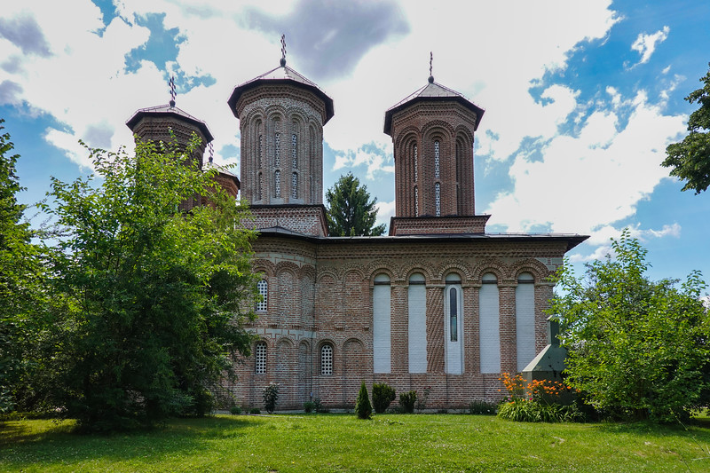 Side view of the Snagov Monastery, Romania.