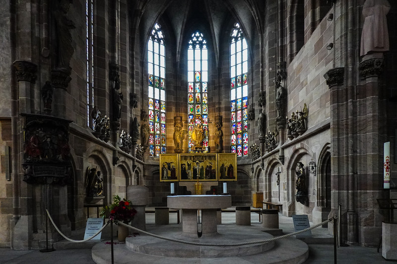 Inside the Church of Our Lady, Numemberg, Germany.