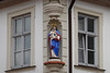 Decorative building ornamentation in old town, Bamberg, Germany.