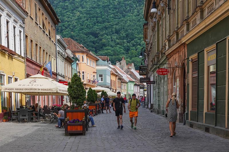 Streets of Rasnov, Romania.